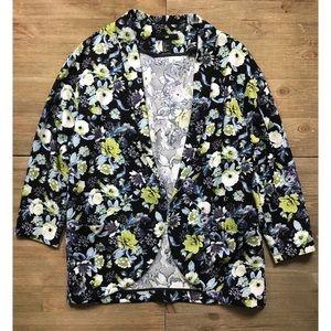 H&M Floral Crepe Blazer